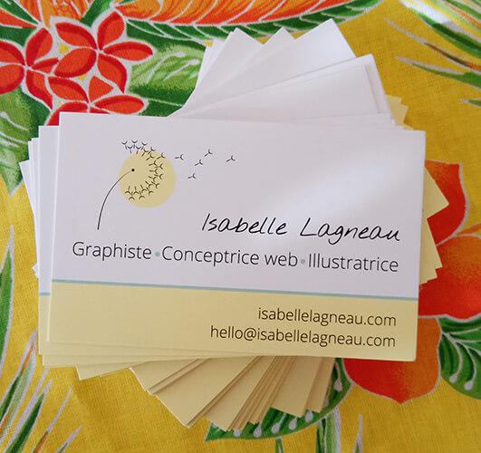 Carte de visite - Isabelle Lagneau