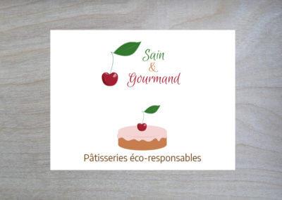 Identité visuelle de Sain & Gourmand