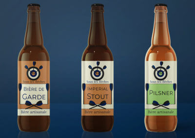 Identité visuelle pour les bières artisanales Sous les flèches