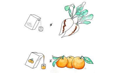 Boire du jus de fruit, c'est comme manger des fruits ?