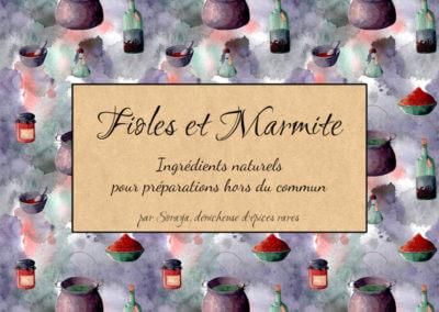 Fioles et Marmite : Identité visuelle et illustrations