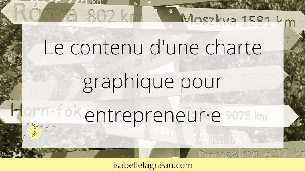 Le contenu d'une charte graphique pour entrepreneur·e