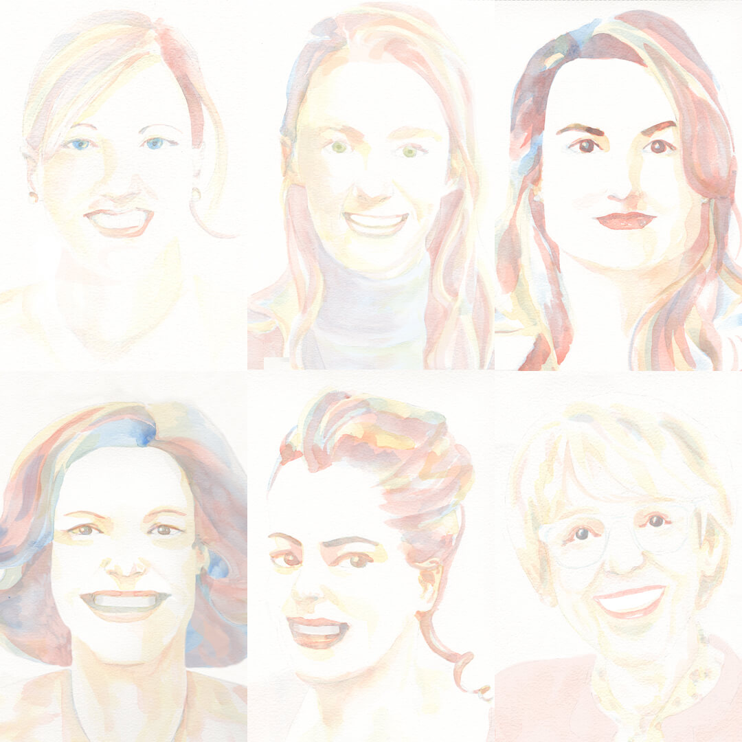 6 portraits pour le podcast Girls in Food