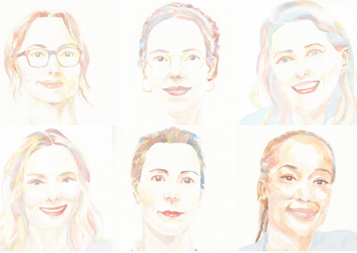Portraits pour le podcast Girls in Food