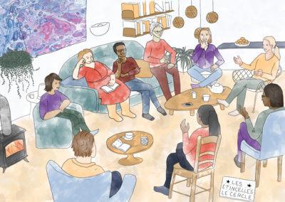 Illustrations pour les rencontres Les Étincelles